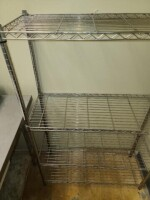 STEEL WIRE RACK WITH SHELVES - 2