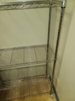 STEEL WIRE RACK WITH SHELVES - 4