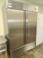SERV-WARE STAINLESS COMMERCIAL REFRIGERATOR