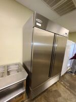 SERV-WARE STAINLESS COMMERCIAL REFRIGERATOR - 2