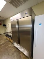 SERV-WARE STAINLESS COMMERCIAL REFRIGERATOR - 3