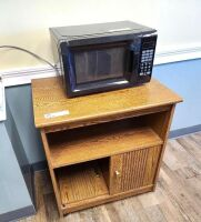 MICROWAVE AND WOOD MICROWAVE STAND - 2