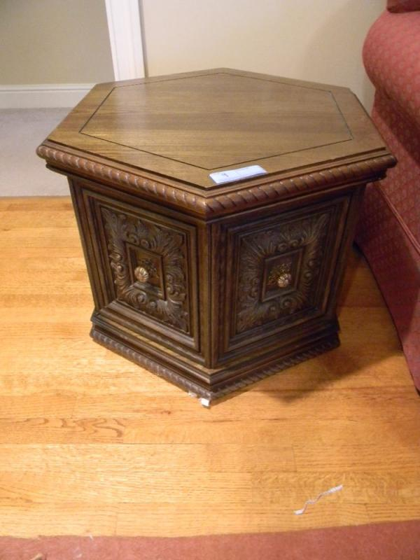 Sided End Table Current Price - Six sided table