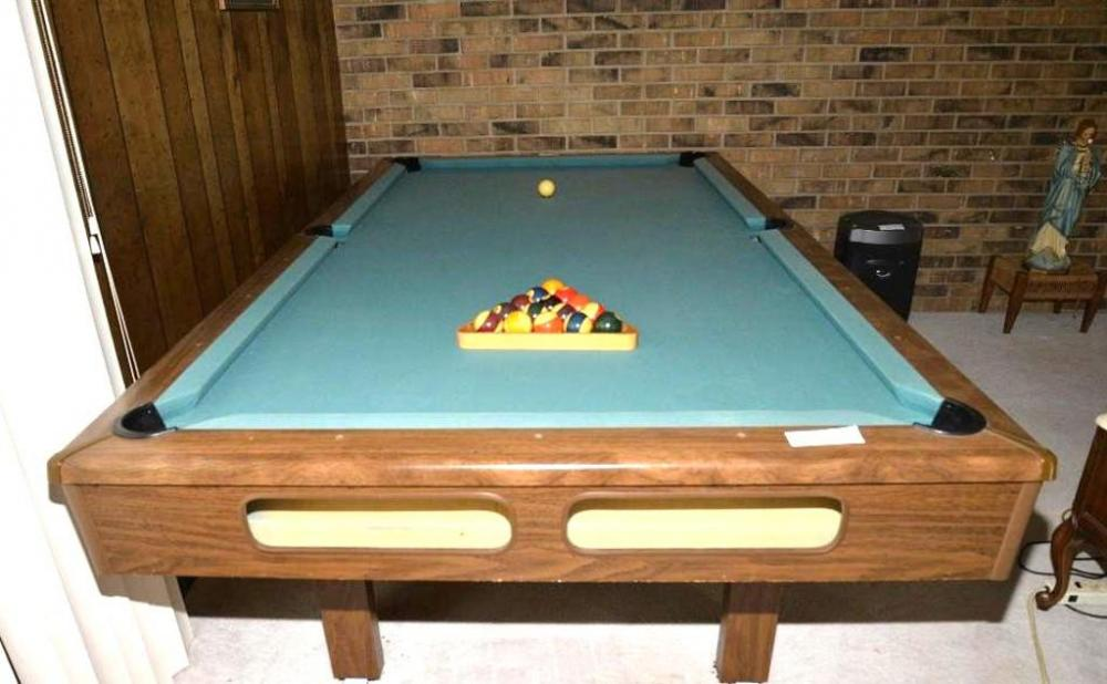 BRIARWOOD POOL TABLE CRAFTED BY BRUNSWICK FOR SEARS REGULATION - Sears billiard table sale