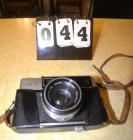 TARON AUTOMATIC AUTO EE CAMERA TARON 1:1.8 45 MM LENS, LEATHER CASE -DAMAGED / IN BAD CONDITION, SERIAL # E3694.