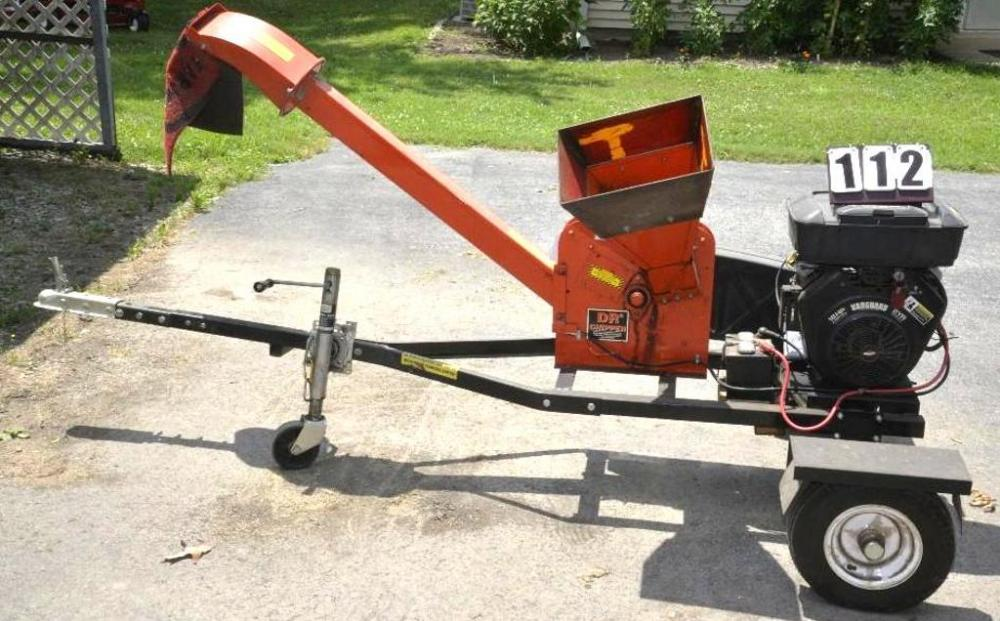 Dr Chipper On 2 Wheel Trailer Chasis Vanguard 18hp V Twin Motor Cur Price 310
