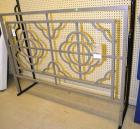 METAL HEADBOARD ATTACHED TO DISPLAY RACK, $189.95