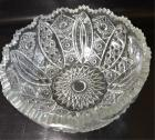 PRESSED GLASS BOWL, STAR DESIGN
