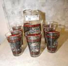 COKE COLA PITCHER &  7 COKE COLA GLASSES