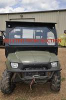 TRUSTEE HAS WITHDRAWN FROM AUCTION:  2006 POLARIS RANGER XP ALL TERRAIN VEHICLE VIN: 4XARH68A674112487700 TWIN ELECTRIC FUEL INJECTION - MFG. 8/21/06 - ROPS GLASS WINDSHIELD - REAR SLIDING GLASS - CAB HEAD LINER LOOSE - FRONT BUMPER WINCH ( CONDITION UNKNOWN) - CABLE PULLED OUT -