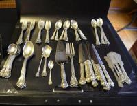 GORHAM STERLING SILVER FLATWARE-CHANTILLY PATTERN PAT. 1895