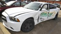 2013 DODGE CHARGER VIN: 2C3CDXAG6DH677677 – WRECKED ON DRIVERS SIDE DOOR – HOLE IN TRUNK - DECK TOP ANTENNA HOLE – NO REAR SEAT Engine: 3.6L DVT MOTOR Miles: ---