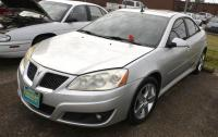 2010 PONTIAC G6 GT VIN: 1G2ZA5EK5A4144220 – MOON ROOF – WINDOW MISSING FROM DRIVER DOOR - BUBBLE ON BACK FENDER - PASSENGER DOOR GLASS IS TAPED - FRONT PASSENGER SIDE BUMPER SCRAPED - CLEAN INTERIOR Miles: 110,998