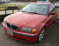 2002 BMW 325I VIN: WBAET37492NH01973 - FOUR DOOR SEDAN – PAINT WORN ON HOOD, FENDERS, TRUNK, REAR QUARTER PANEL– HAS GLASS TOP - PAINT PEELING Color: RED Miles: 196,887