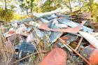 VARIOUS OTHER SCRAP METAL PILE SIGN POSTS - BLADES - CYLINDERS - MISC. - NO I BEAMS ARE INCLUDED