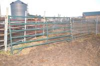 BIG VALLEY & GREEN GATES & PANELS - 21 GATES & PANELS - 2ND PEN EAST & ACROSS ALLEY - 1 BIG VALLEY 12 FT. - CROWDING CORRAL PANEL - 1 BIG VALLEY 4 FT. GATE - 1 BIG VALLEY GATE 8 FT. ACROSS ALLEY - 1 GREEN PANEL 12 FT. (BENT) - 1 BIG VALLEY PANEL 12 FT. -