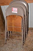 (20) FOLDING CHAIRS - WOOD SEATS (1L-7L SELLS AT LAND  AUCTION, FOLLOWING LAND AUCTION)