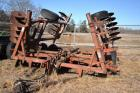 MASSEY FEGERSON 820 WING FOLD DISK- 20+/- FT. TWO GANGS OF BLADES OFF DISK -NEEDS REPAIR