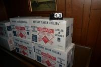 (6) BOXES THERMO-TILE, POLYSTYRENE CEILING TILE,