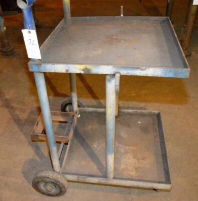 "STEEL ROLLING CART, 24"" x 24"", RUBBER WHEELS"