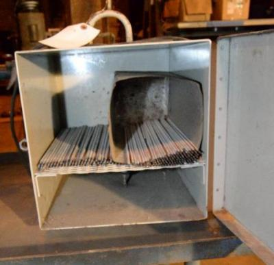 WELDING ROD CABINET, ELECTRICAL HOOK-UP FOR