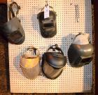(5) ASSORTED WELDING HELMETS, GRINDING SHIELDS
