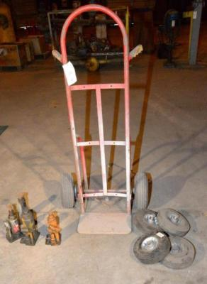 2-WHEEL DOLLY, TIRE FLAT.  ALSO INCLUDES (4) EXTRA